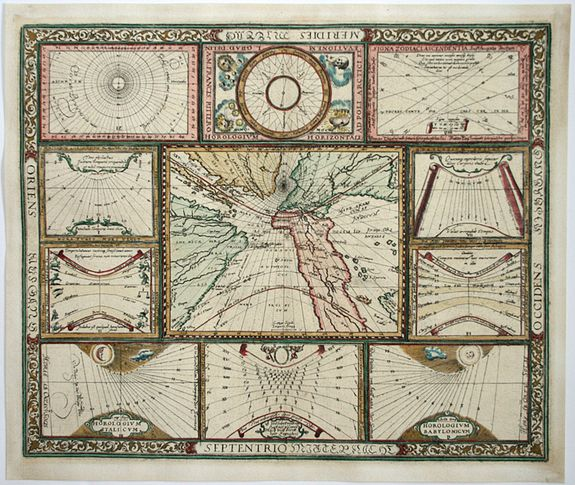 RITTER, F. - Untiteled: World and Horological Diagrams.