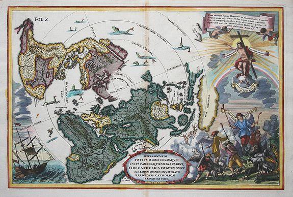 SCHERER,H. - Repraesentatio Totius Orbis Terraquei Cuius Partes..