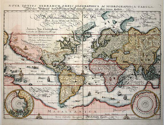 MERIAN, M. - Nova Totius Terrarum Orbis Geographica ac Hydrographica Tabula