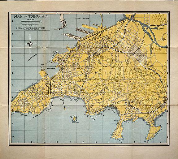 TELBERG, George, G. - Map of Tsingtao.