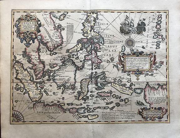 MERCATOR,G. / HONDIUS, J. - Insulae Indiae Orientalis praecipuae, in quibus Moluccae celeberrimae sunt. . .