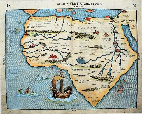 Bunting, H. - Africa tertia pars terrae.