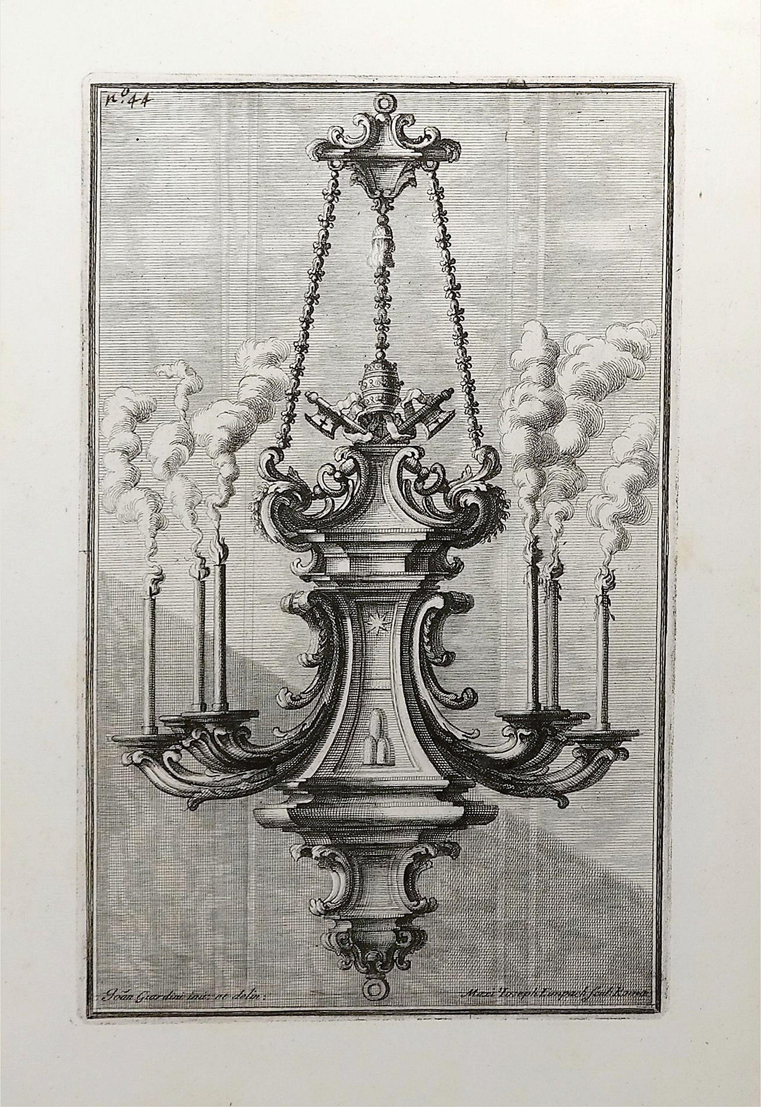 GIARDINI, G. - [Design Art] Italian Chandelier No. 44