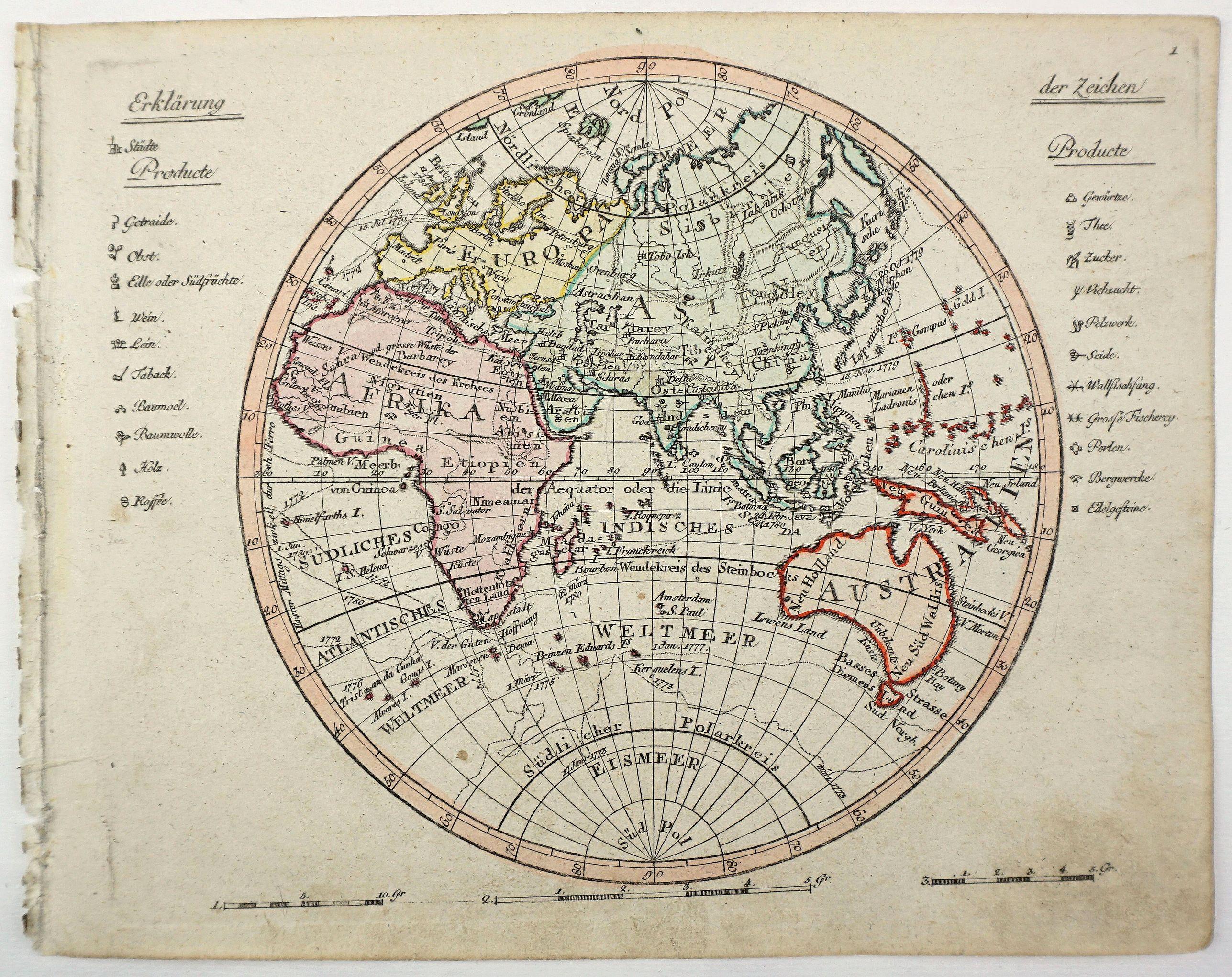 WALCH, J. - [Eastern Hemisphere].