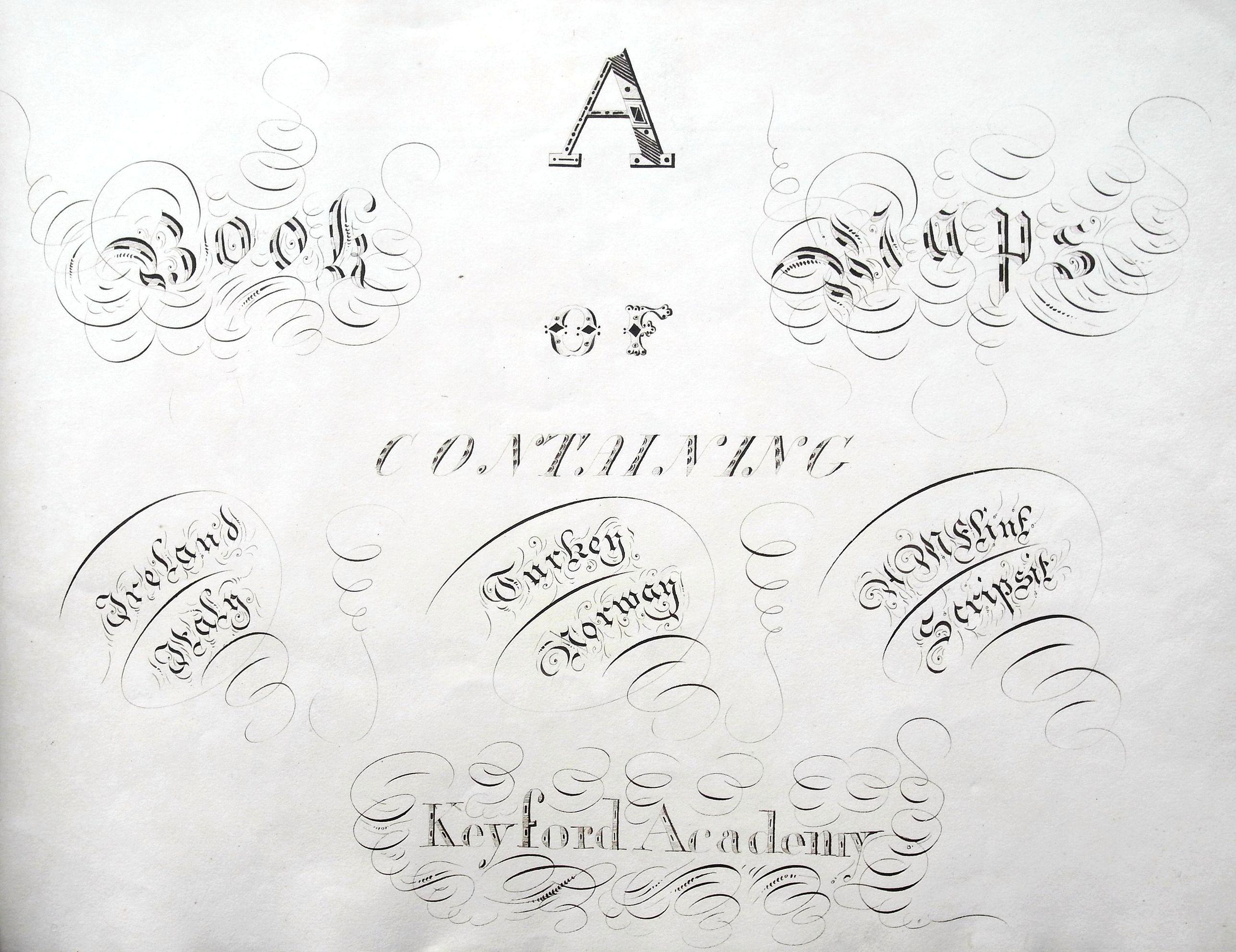 FLINT, A. - A book of maps (manuscript atlas).