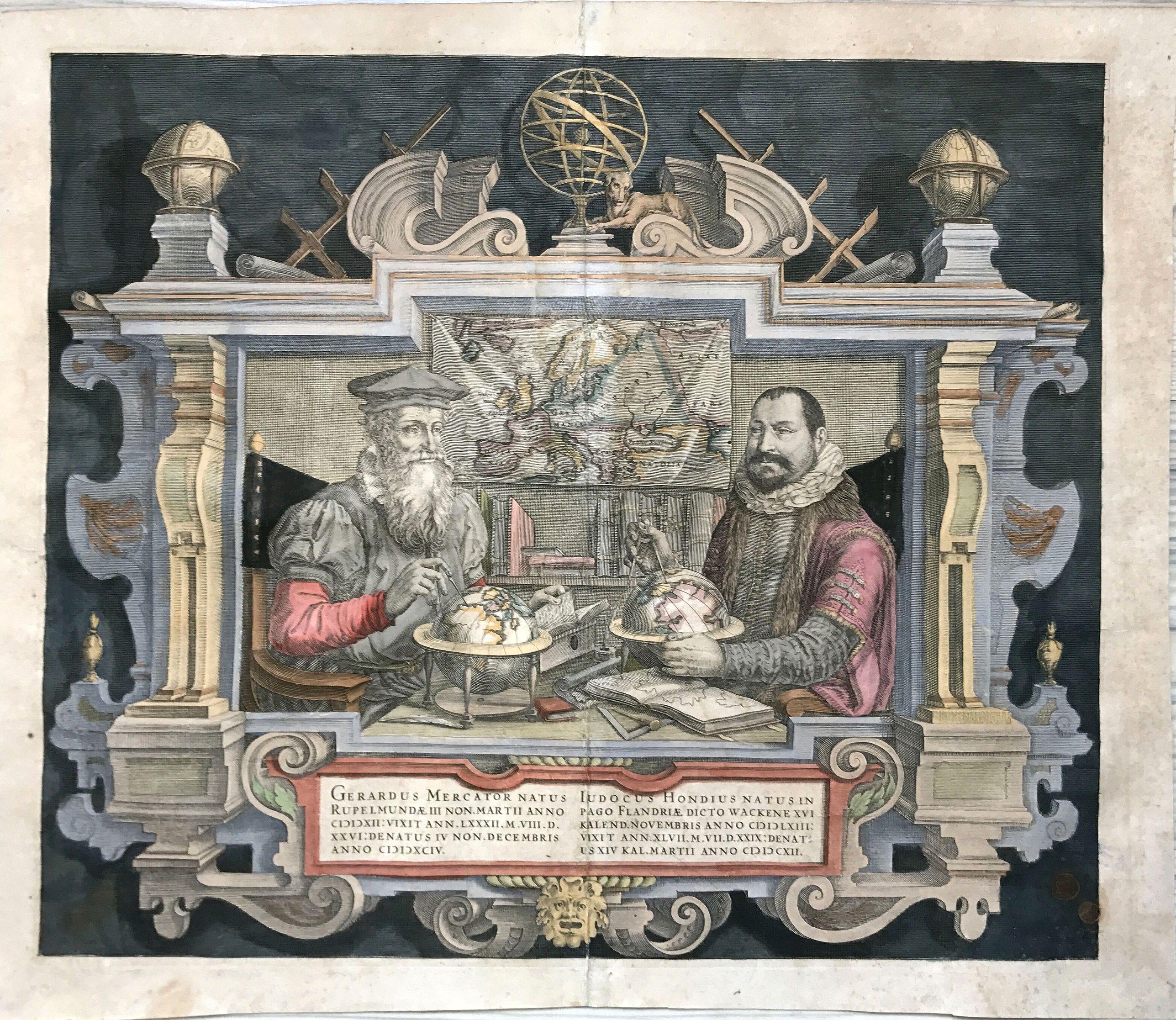 MERCATOR, G./ HONDIUS, J. - [Title page] Gerardus Mercator natus Iudocus Hondius. . .
