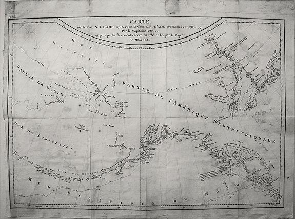 Meares, J. - Carte de la Cote N.O. d'Amerique et de la Cote N. E. d'Asie. . .