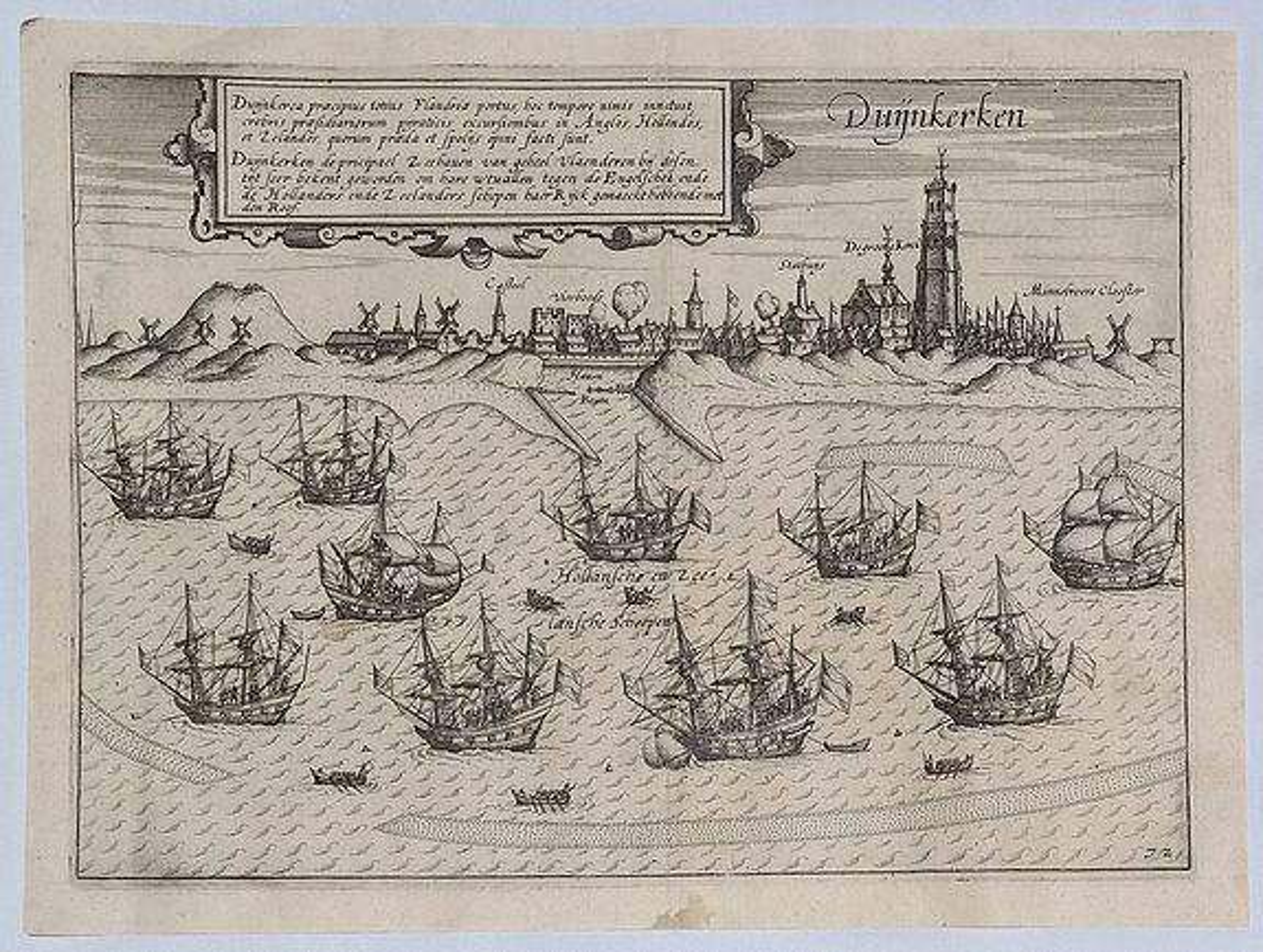 GUICCIARDINI, L. - Duijkkerken Praecipus Totius Flandriae.