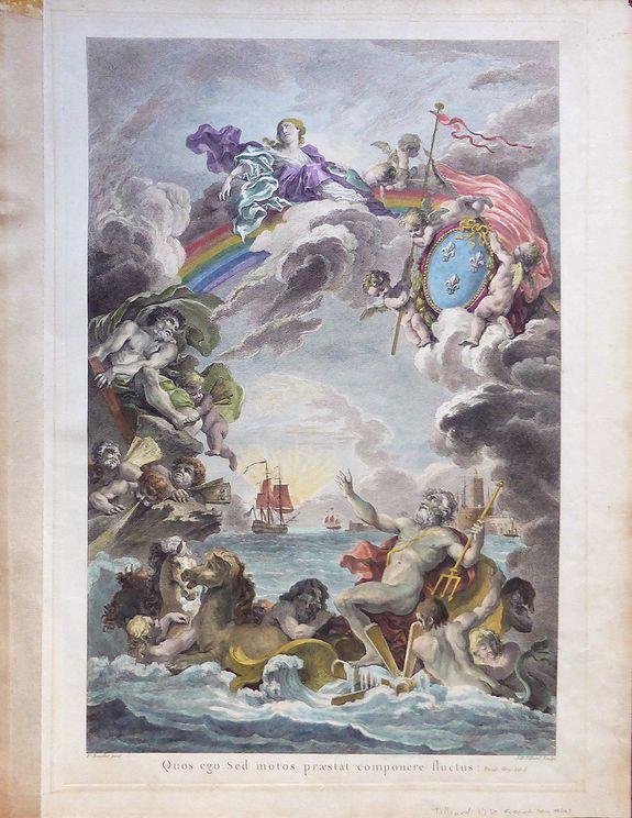 J B Tilliard / F Boucher.  -  Quos ego. Sed motos praestat componere fluctus : Eneid. Virg. Lib.I.