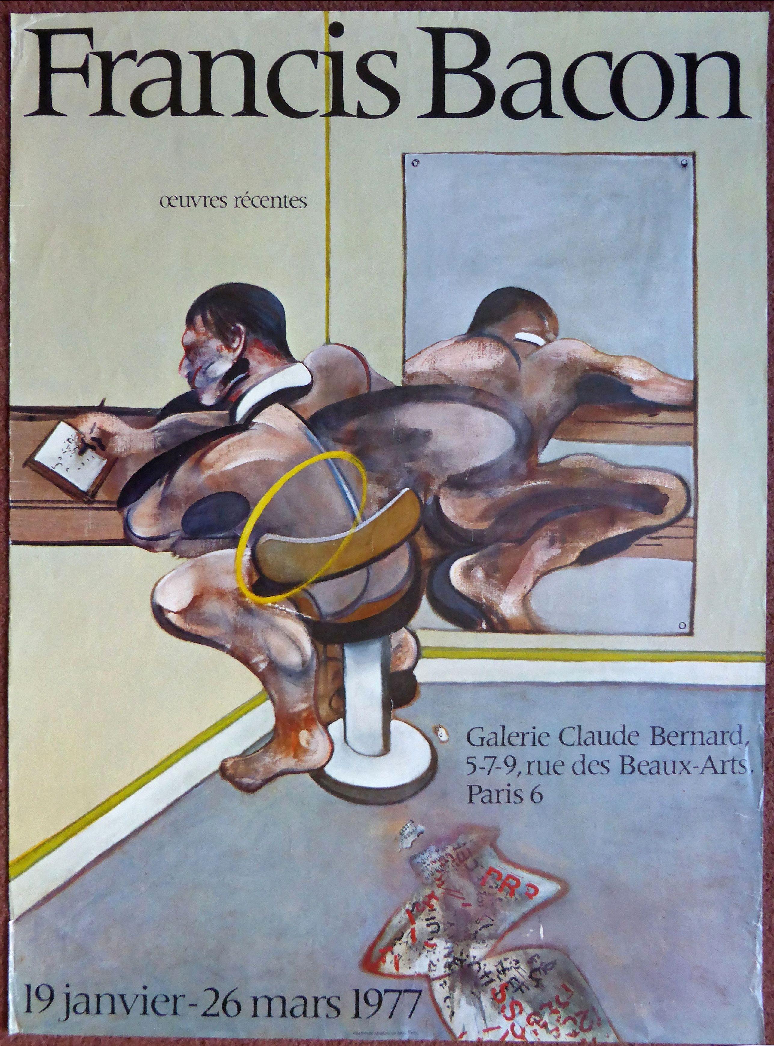 BACON, Francis.  - Francis Bacon - oeuvers recentes - Galerie Claude Bernard - Paris 19 janvier - 26 mars 1977.