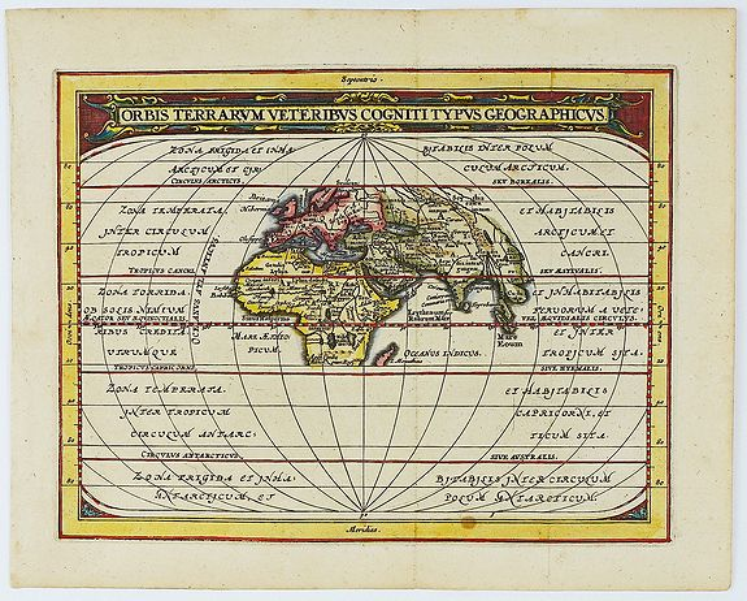 CLÜVER, P.  - Orbis Terrarum Veteribus Cogniti Typus Geographicus.
