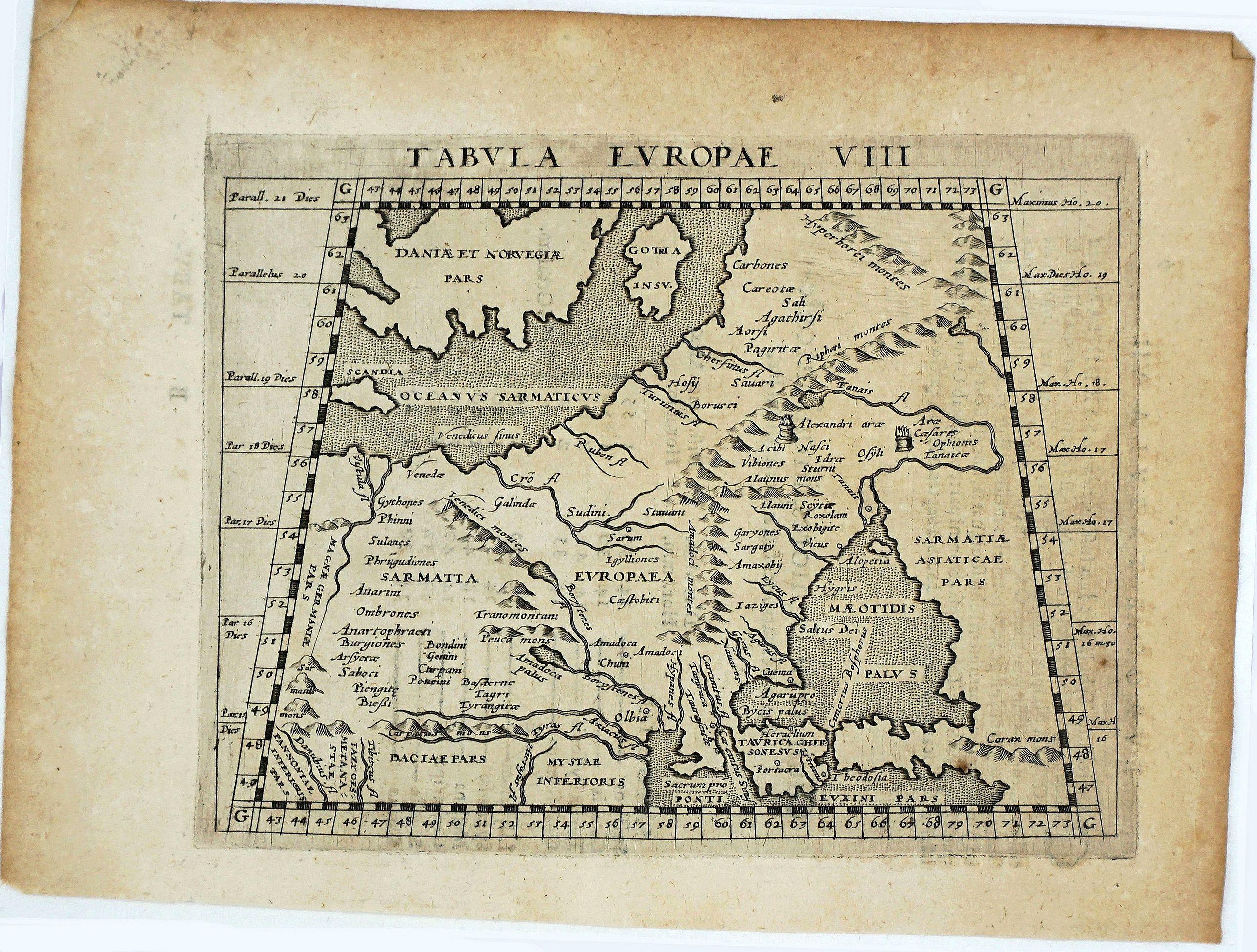 MAGINI, G. A. - Tabula Europe VIII.