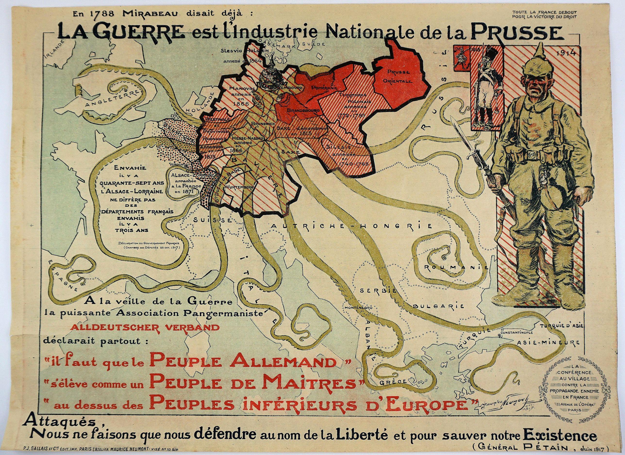 NEUMONT, M. L. H. - La Guerre est L'Industrie Nationale de la Prusse.