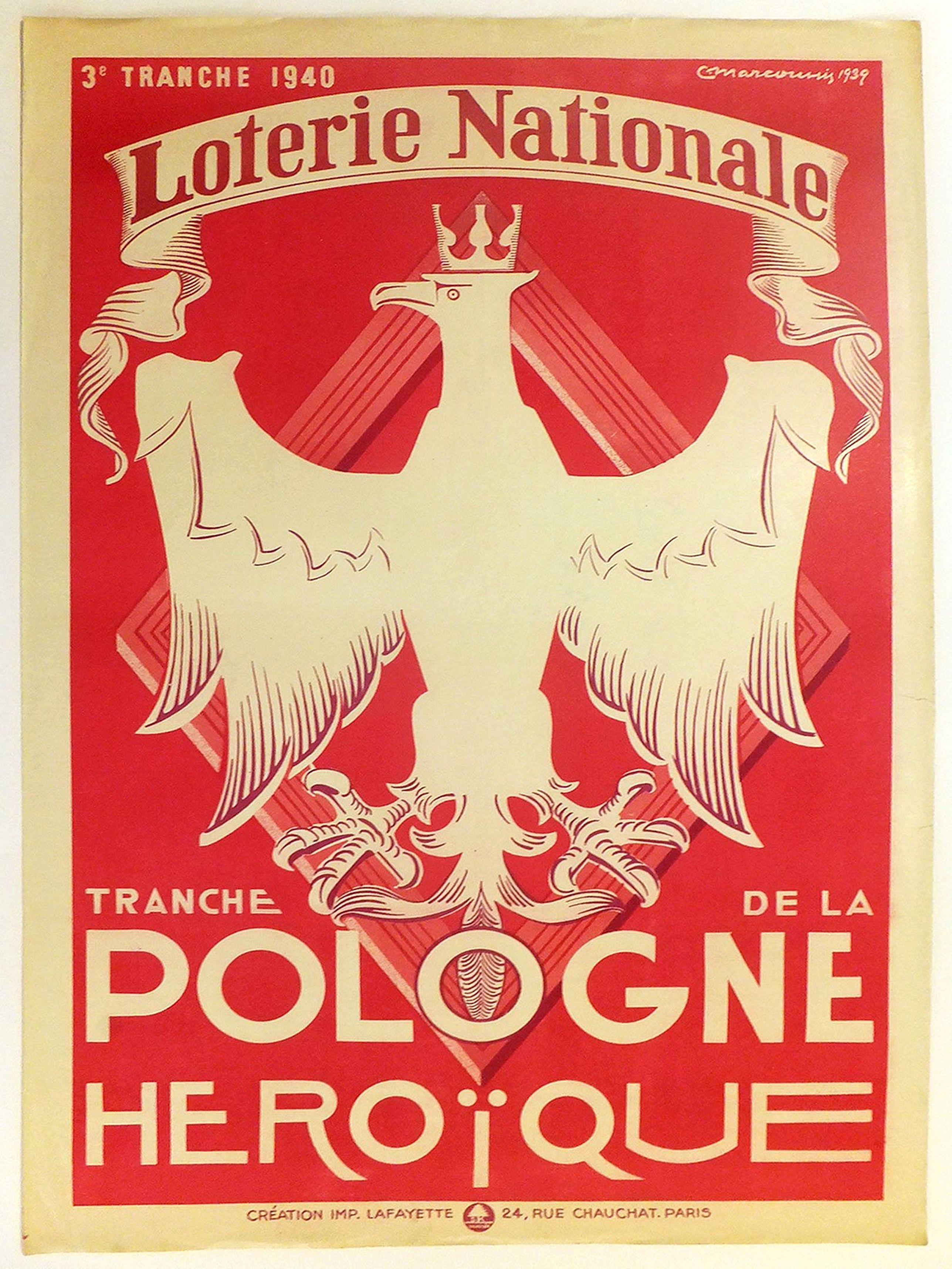 MARCOUSSIS -  3e tranche 1940. Loterie Nationale. Tranche de la Pologne héroïque.