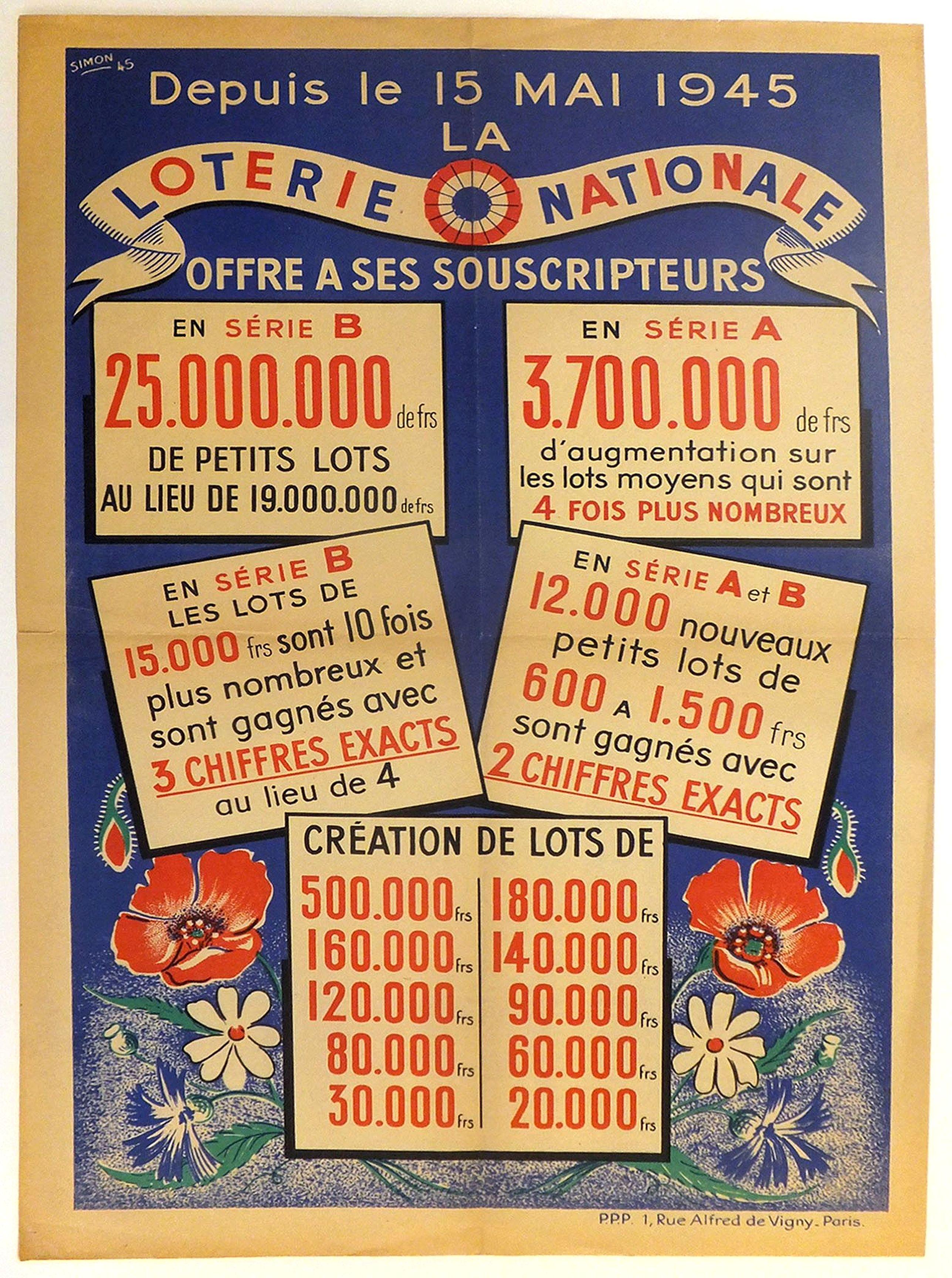 SIMON. -  Depuis le 15 mai 1945 la Loterie Nationale offre à ses souscripteurs. . .