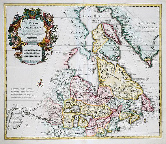COVENS, P. / MORTIER, C. - Carte du Canada ou de la Nouvelle France.  . .