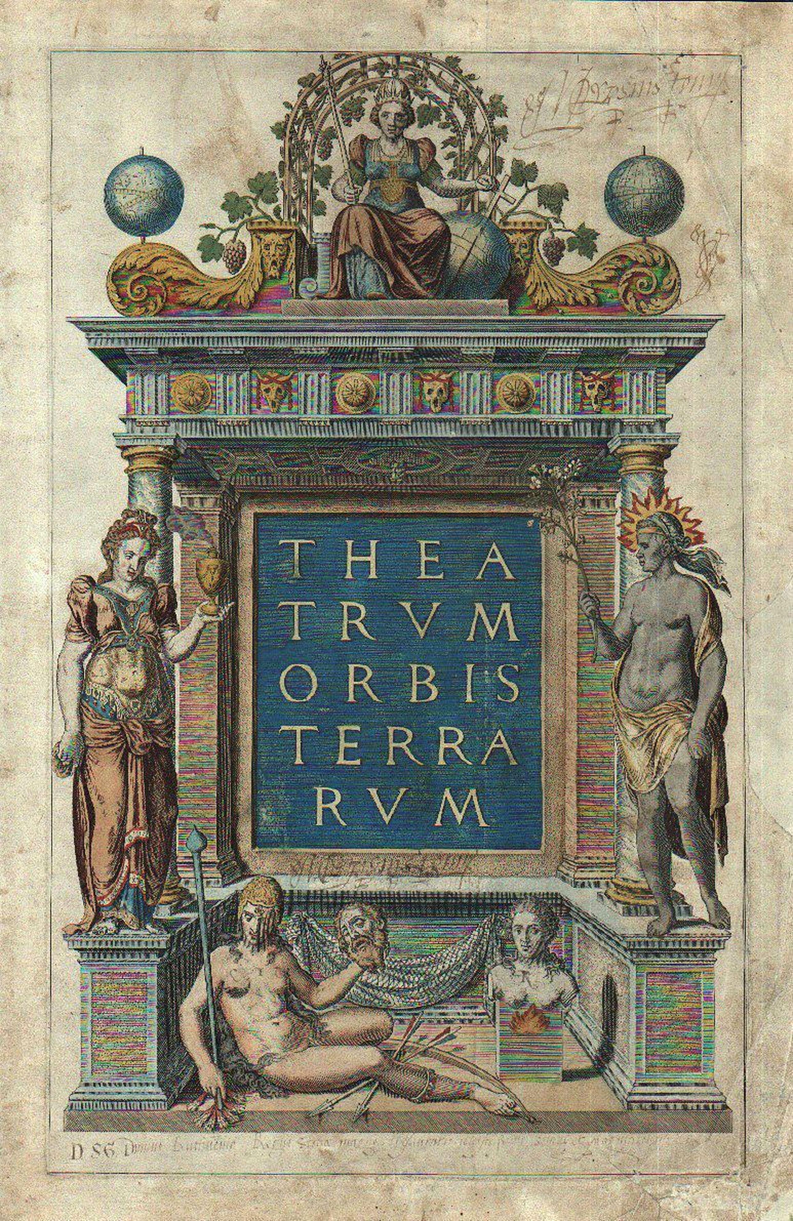 ORTELIUS, A. - [Title page of Theatrum Orbis Terrarum.]