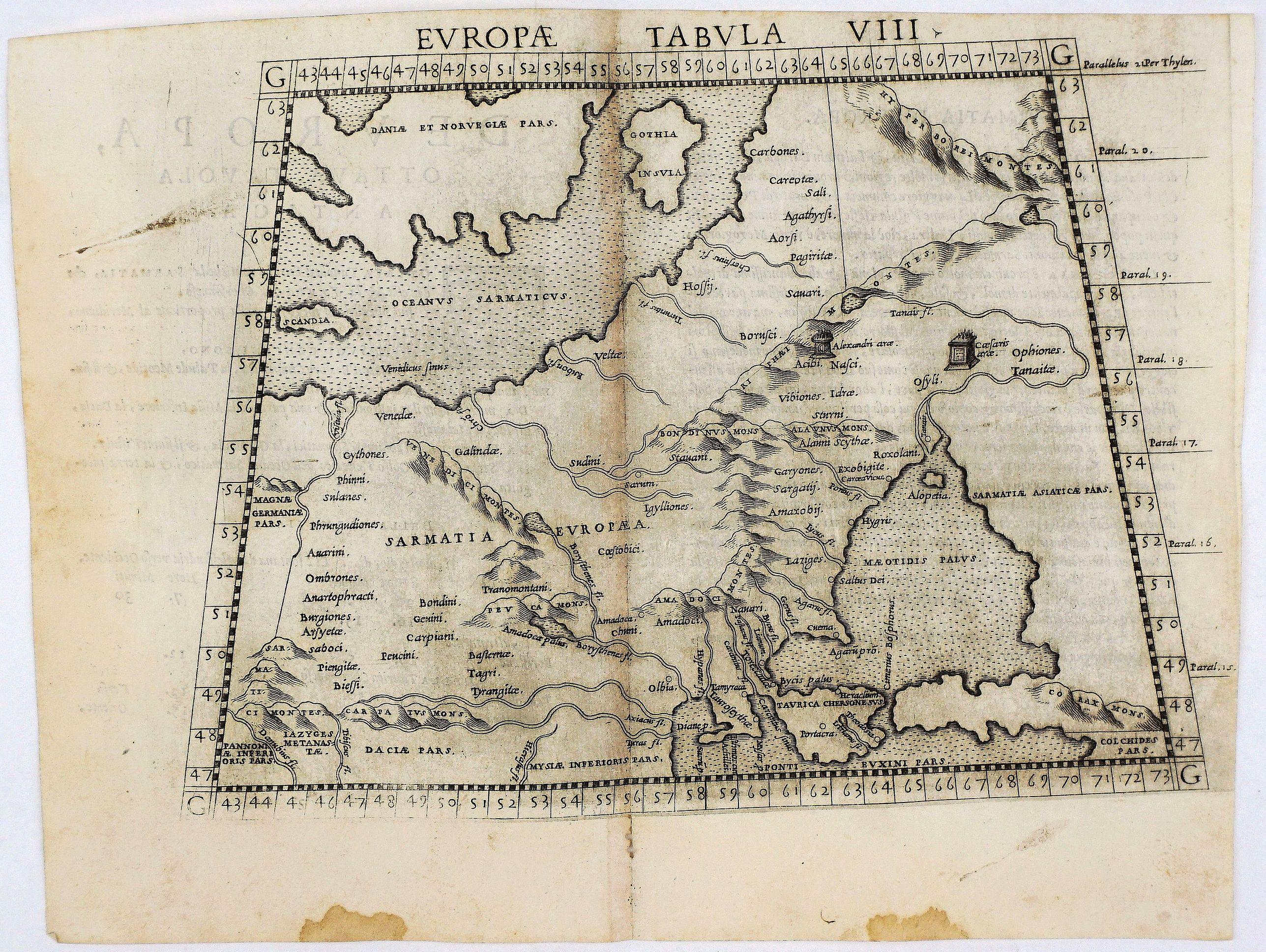RUSCELLI, G. - Europae Tabula VIII.