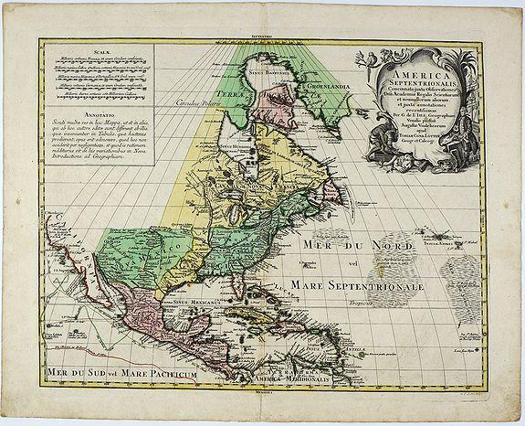 LOTTER, T.C. - America Septentrionalis Concinnata juxta Observationes . . .