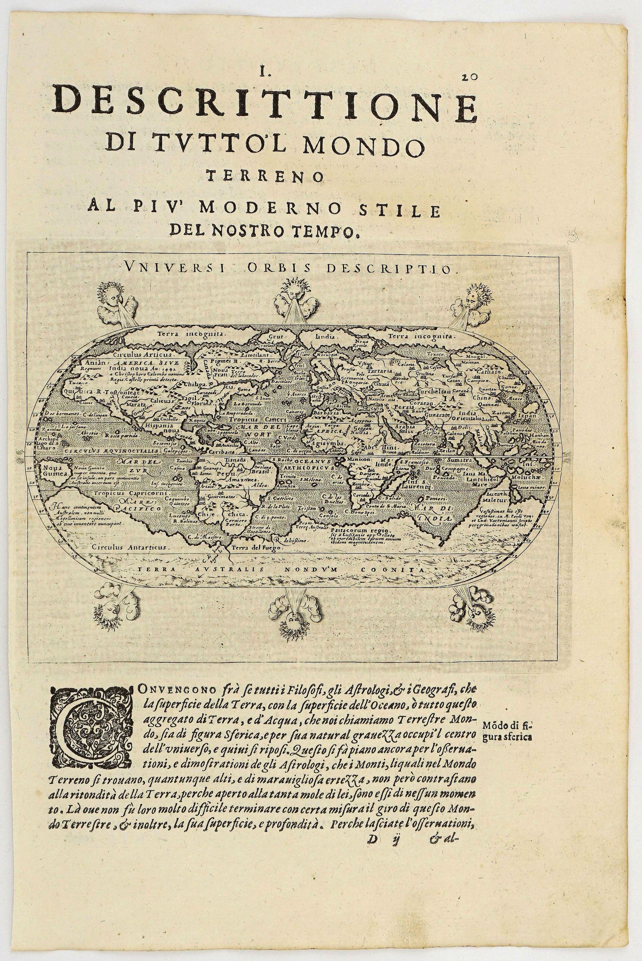 MAGINI, G. A. - Universi Orbis Descriptio.