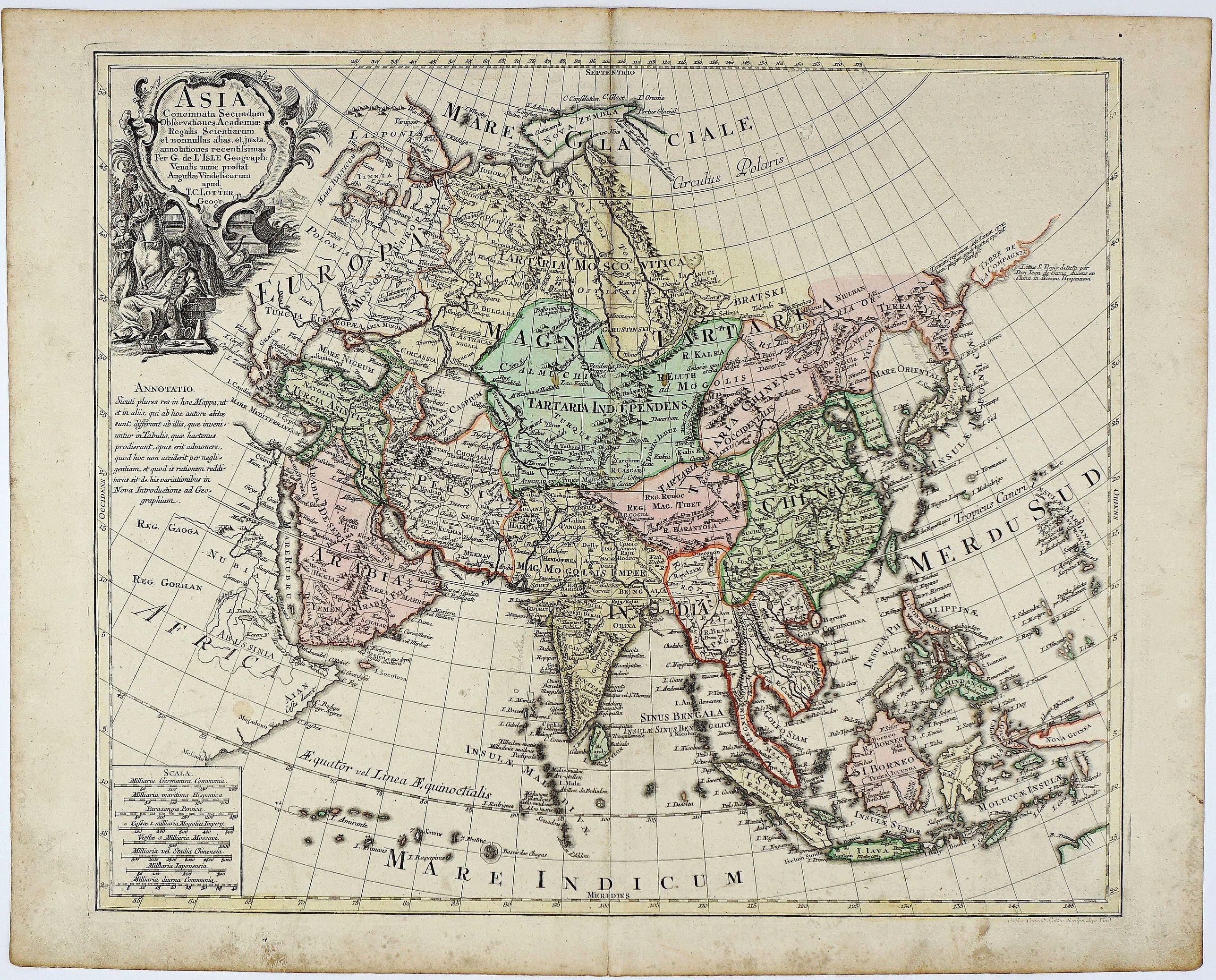 LOTTER, T.C. - Asia Concinnata Secundum Observationes Academiae Regalis Scientiarum. . .