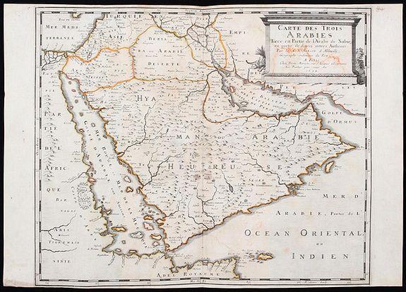 SANSON, Nicolas. - Carte des Trois Arabies.