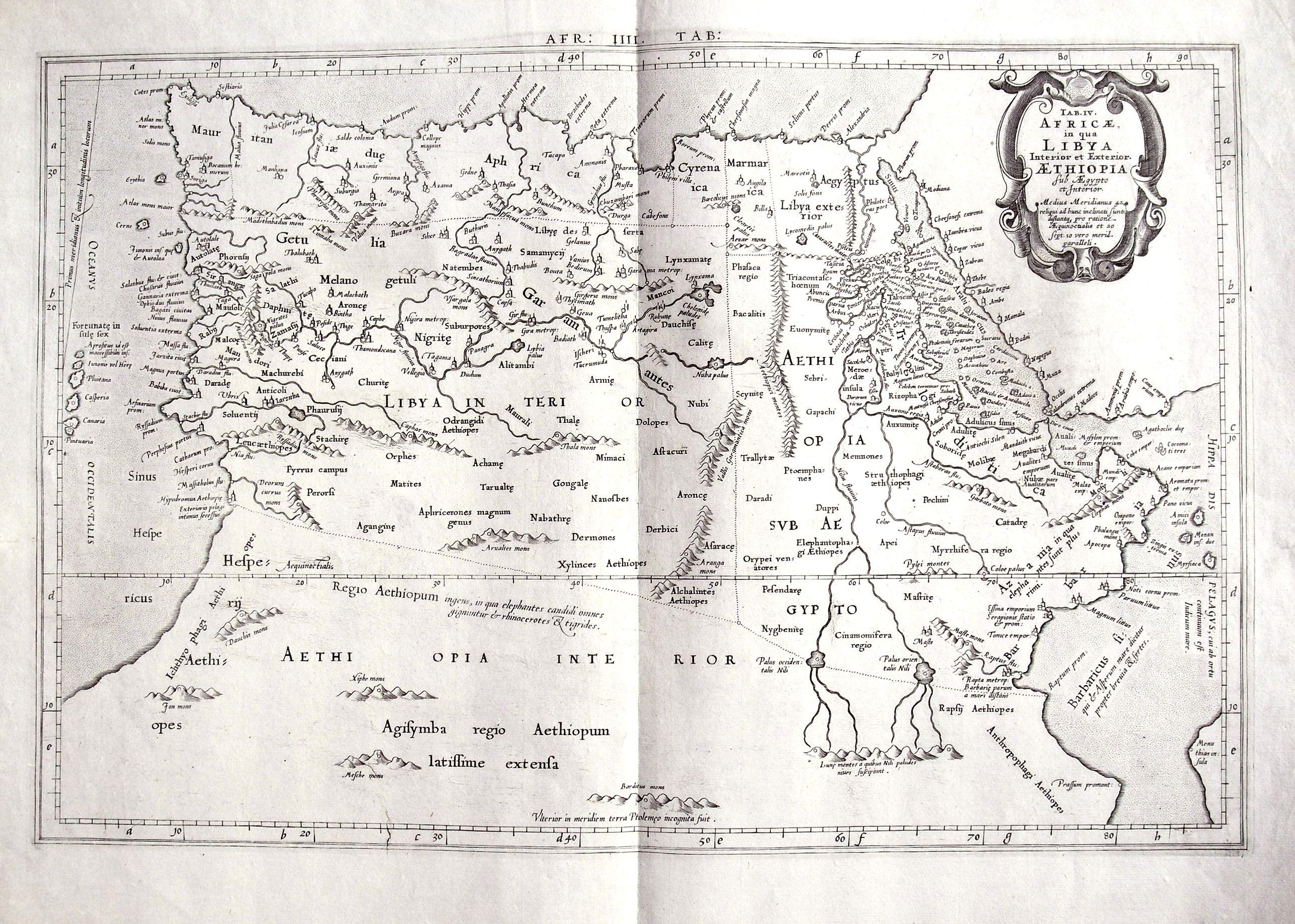 MERCATOR, G. - Tab. IV. Africae in qua Libya Interior et Exterior. Aethiopia sub Aegypto et Interior. . .