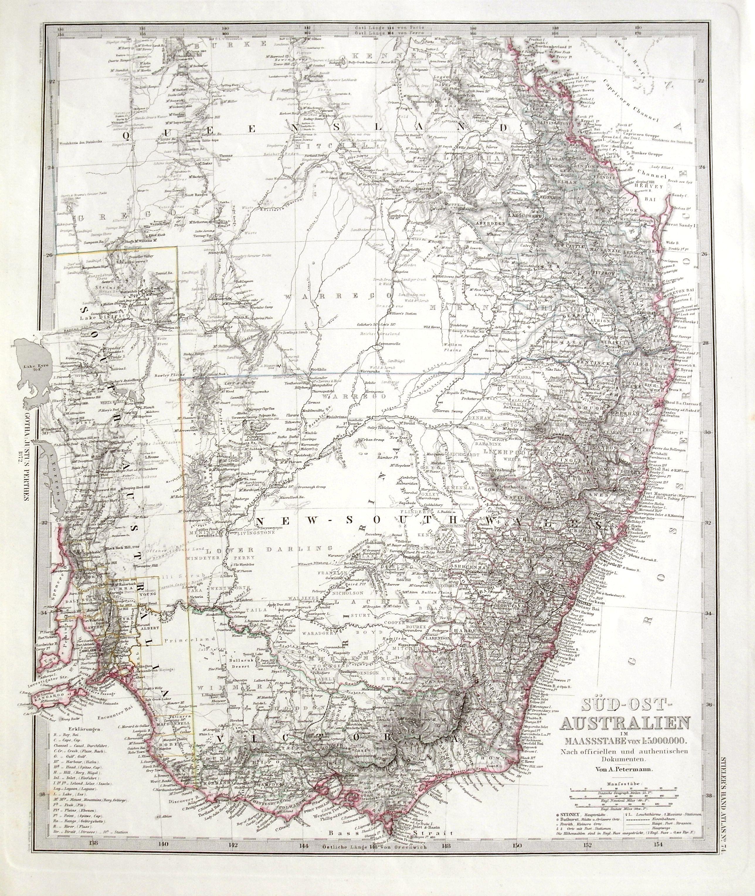 STIELER, A. - Süd-Ost Australien.