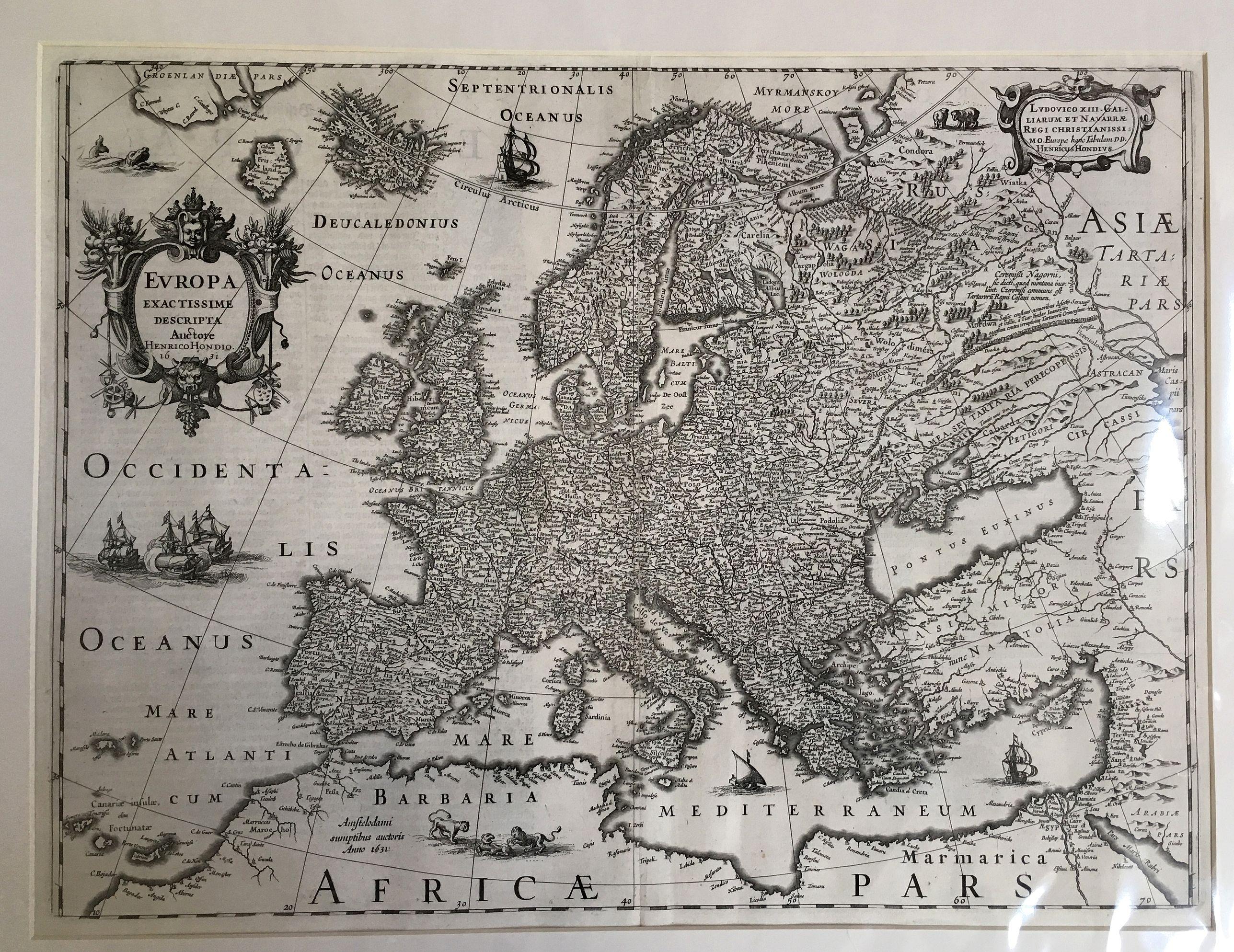 HONDIUS, H. - Europa Exactissima Descriptio.