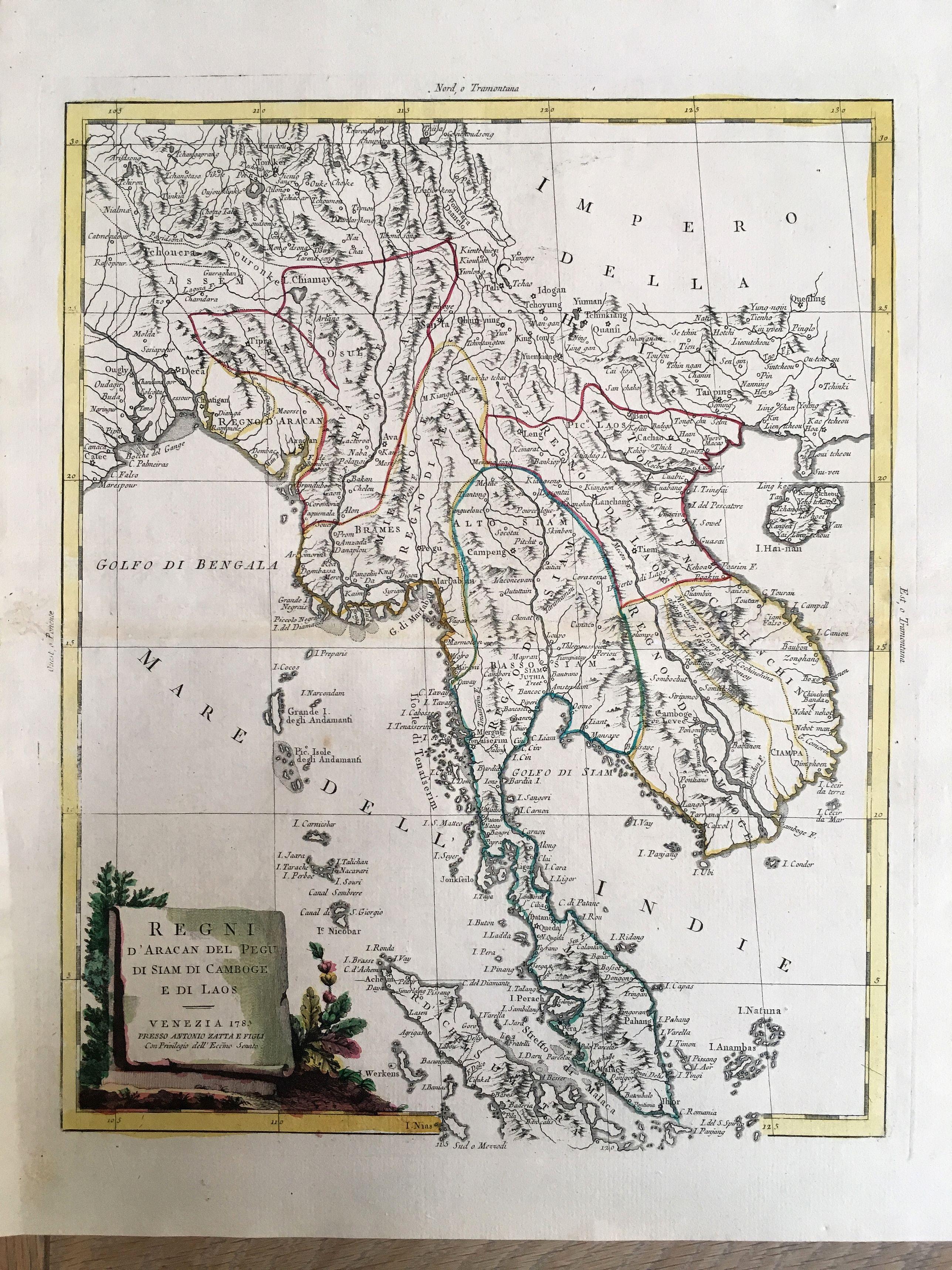 ZATTA, A. - Regni D'Aracan Del Pegu Di Siam Di Camboge E Di Laos.