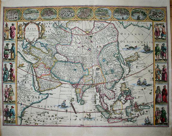 BLAEU, W., Asia Noviter Delineata., antique map, old maps