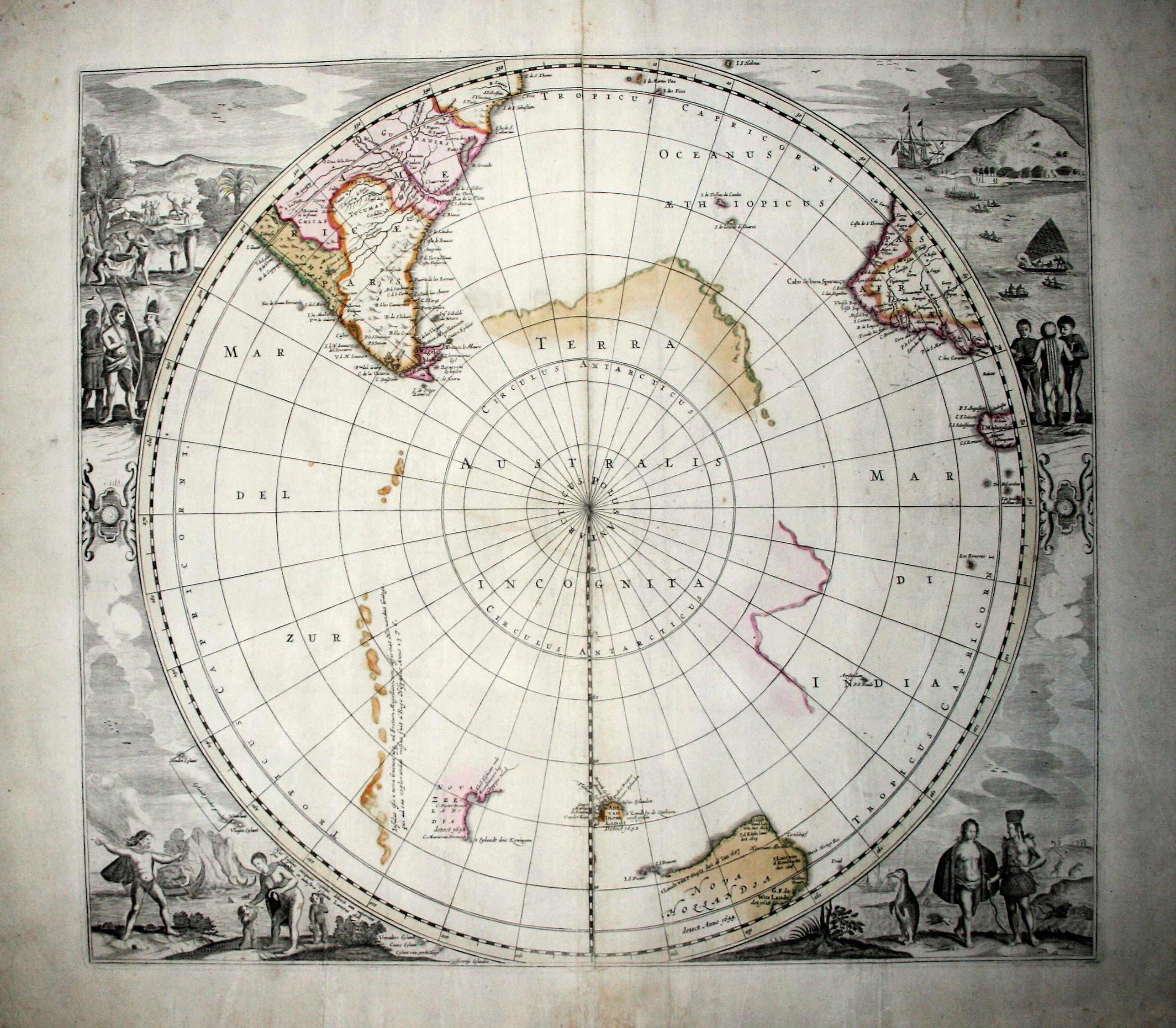 DE WIT, F. - Polus Antarcticus (rare IV State).
