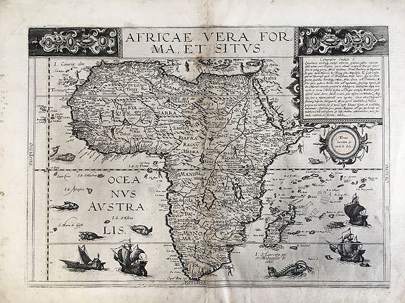 De JODE, C. - Africae vera forma, et situs.