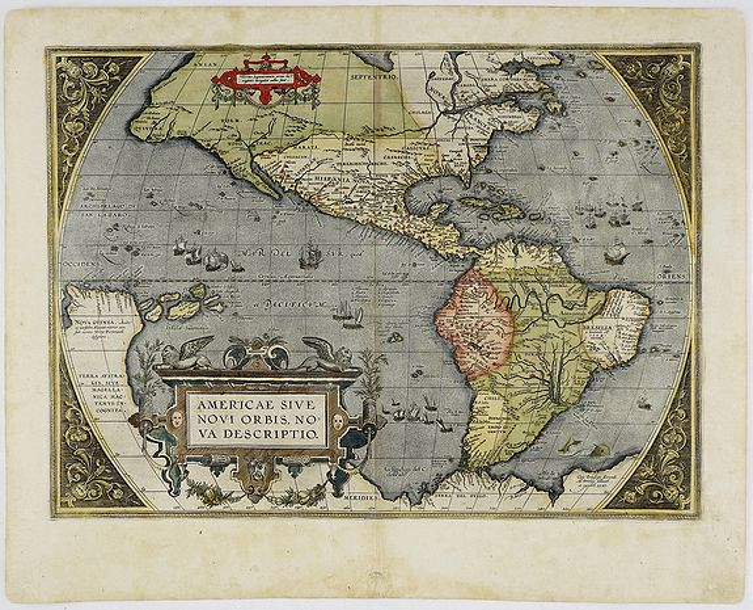 ORTELIUS, A. - Americae Sive Novi Orbis Nova Descriptio.