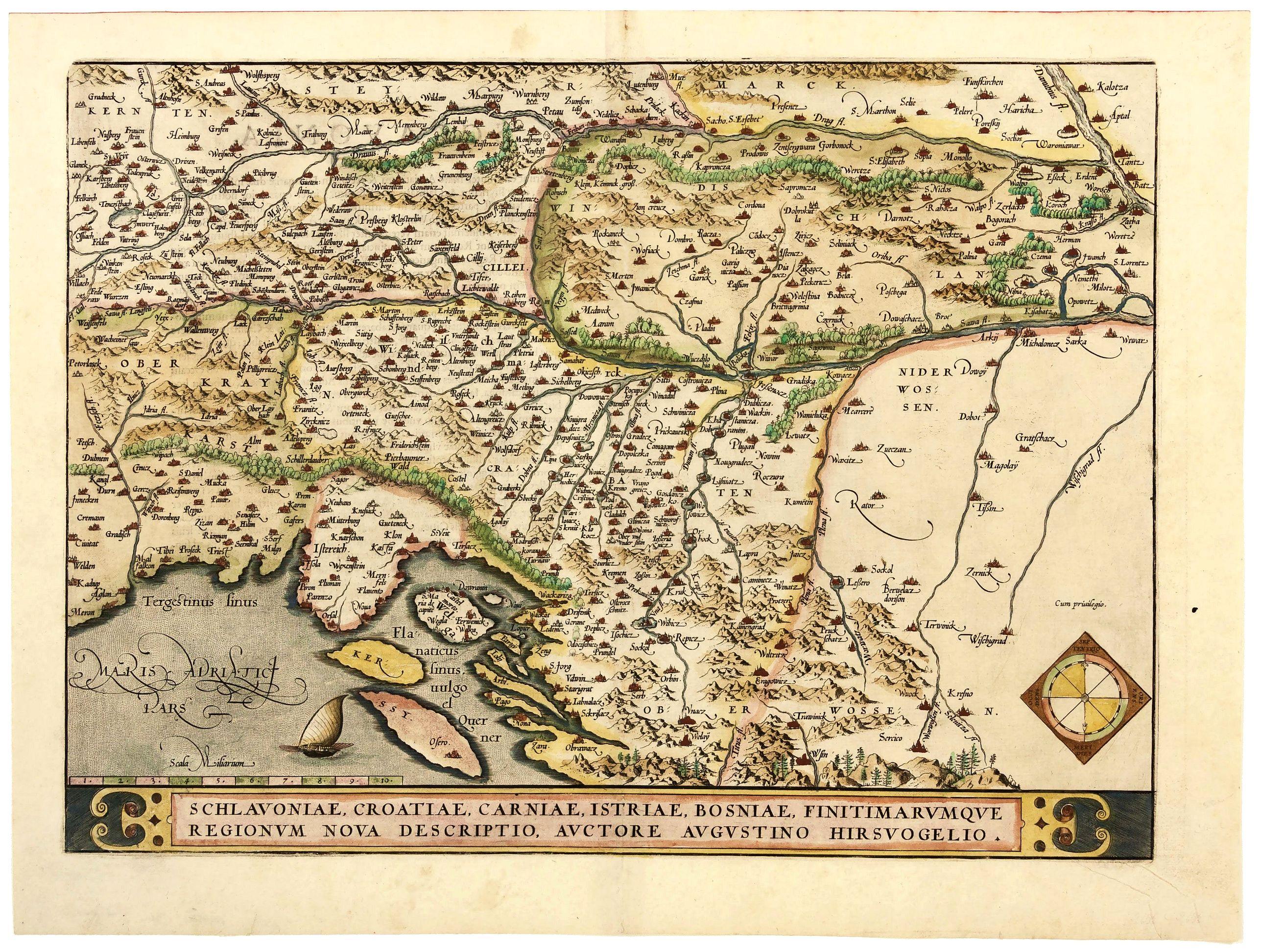 ORTELIUS, A.  -  Schlavoniae, Croatiae, Carniae, Istriae, Bosniae. . .