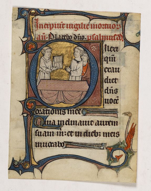 ANONYMOUS. - Page from a psalter.