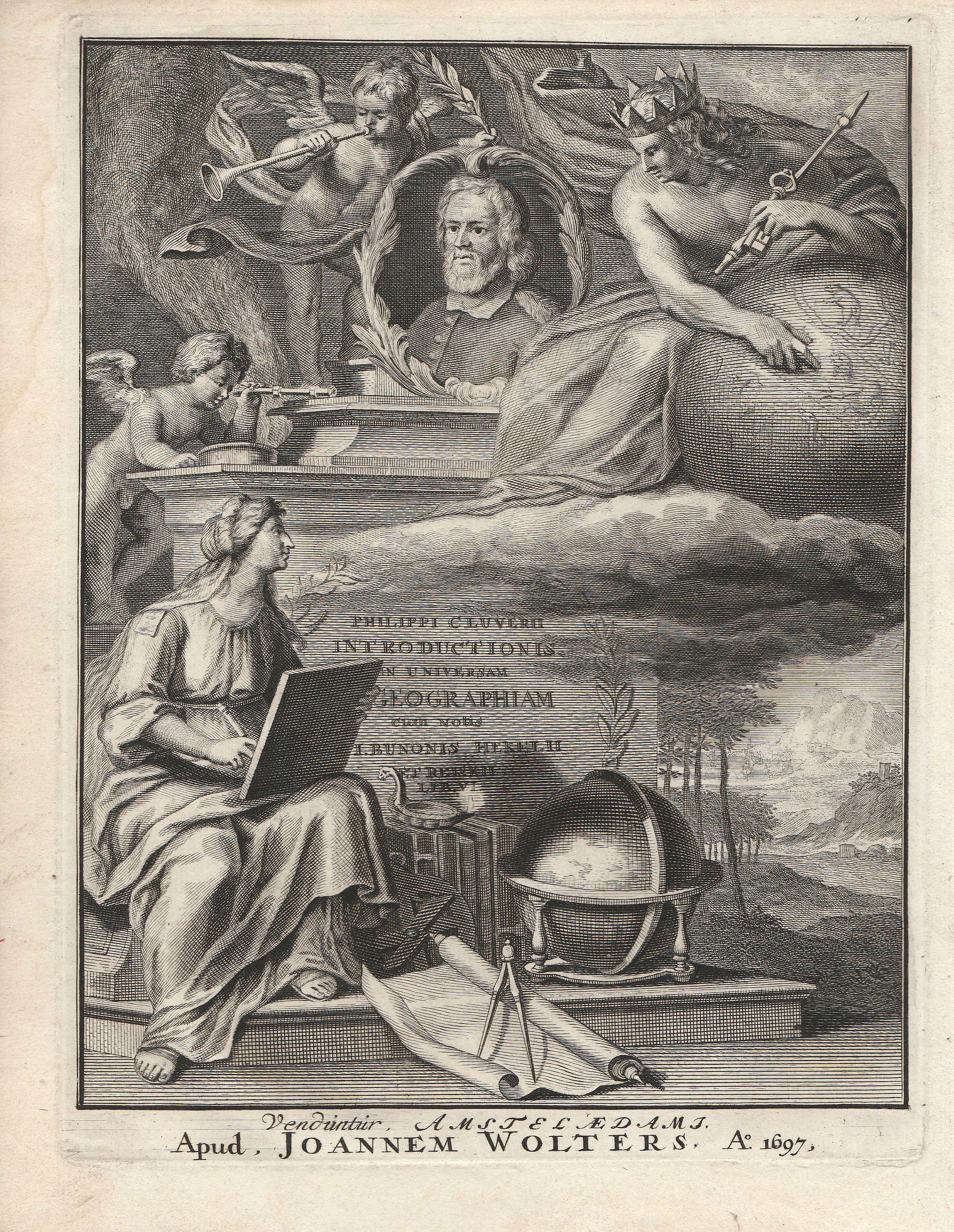CLUVER, Philip. - Philippi Cluverii Introductionis in Universam Geographiam cum notis J. Bunonis Hekelii . Veduntur Amsteldami Apud Joannem Wolters. Ao 1697