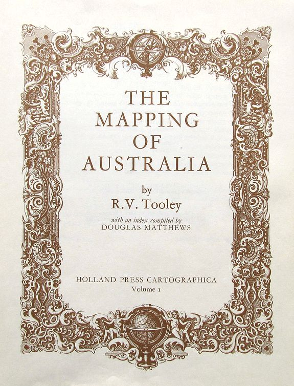 TOOLEY, R. V., The Mapping of Australia., antique map, old maps