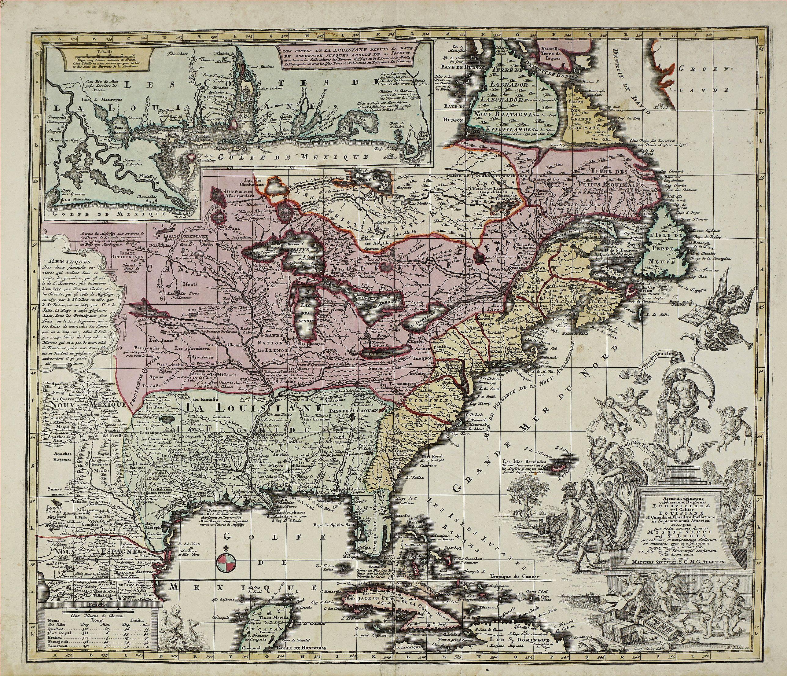 SEUTTER, M. - Accurata delineatio celeberrimae Regionis Ludovicianae vel Gallice Louisiane ol Canadae et Floridae. . .