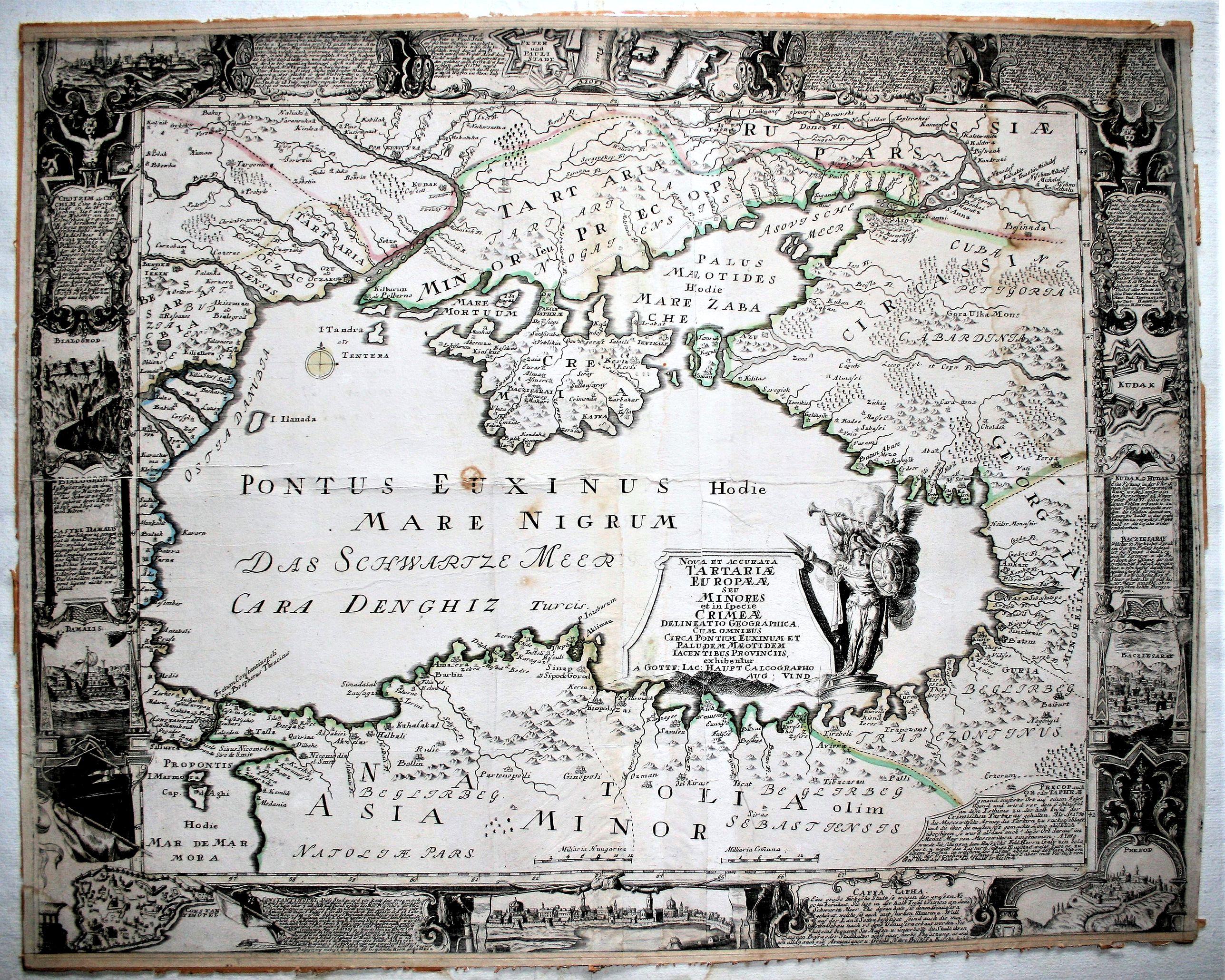 HAUPT, G.J. - Nova et accurata Tartariae Europae. . . Crimeae. . .