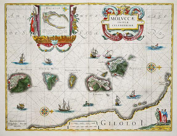 BLAEU, Willem. - Moluccae Insulae Celeberrimi.