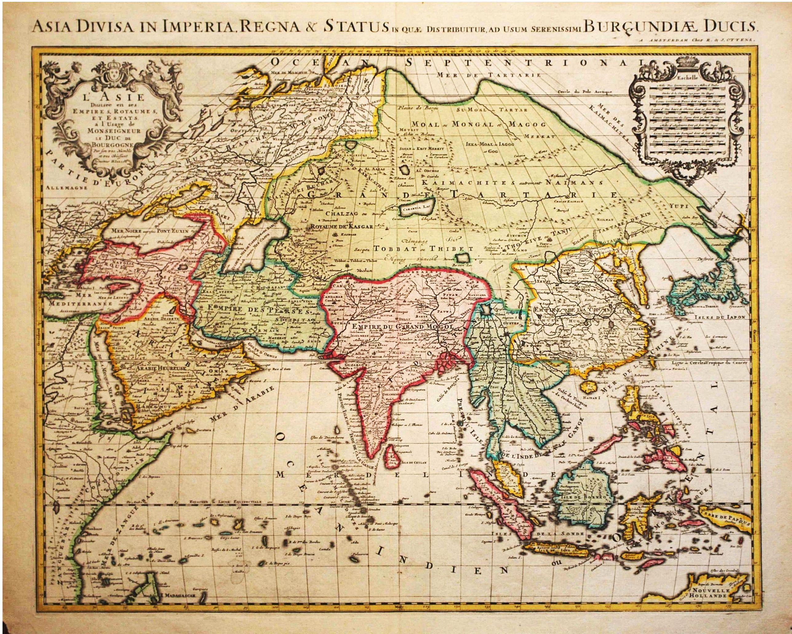 OtTTENS, R. & J.  / after H. Jaillot. - L ' Asie Divisee en ses Empires, Royaumes et Etats.
