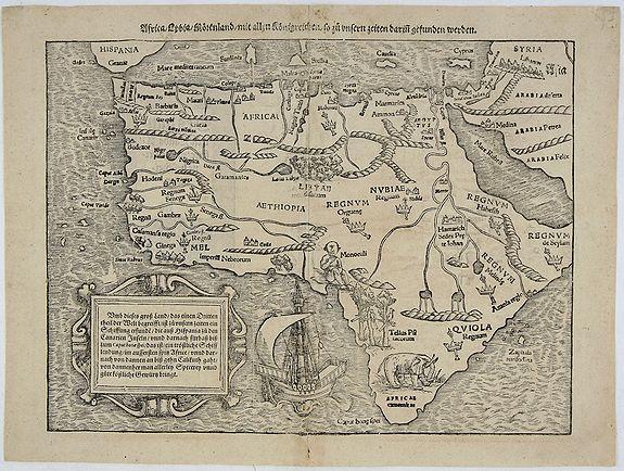 MUNSTER, S. - Africa / Libya / Morenlandt / mit allen Königreichen / so zu unsern zeiten darin gefunden werden.
