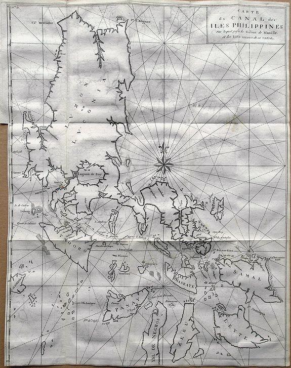 ANSON, G. - Carte du Canal des Iles Philippines par lequel Passe le Galion de Manille. . .