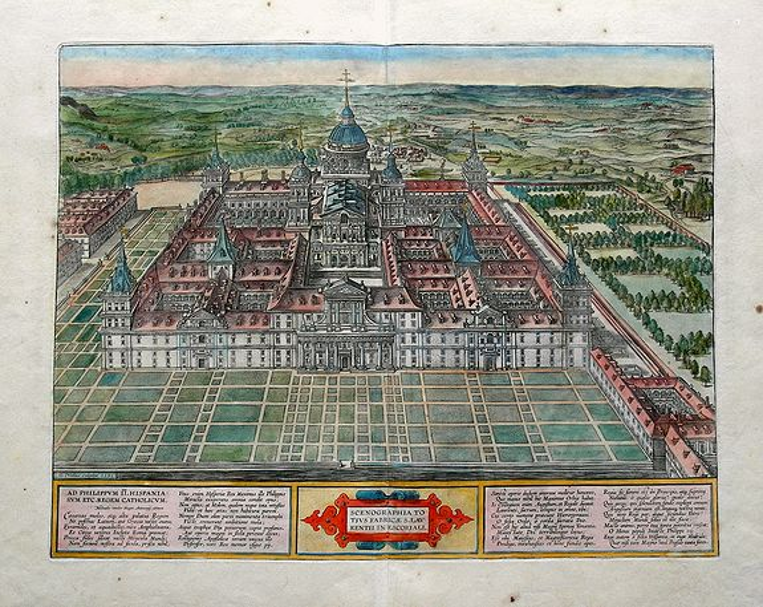 ORTELIUS, A. - Scenographia Totius Fabricae S. Laurentii In Escoriali.