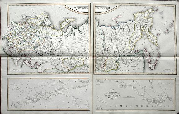 LIZARS, W. H. - Russian Empire / Chart of the communication between the archipelago and Black Sea.
