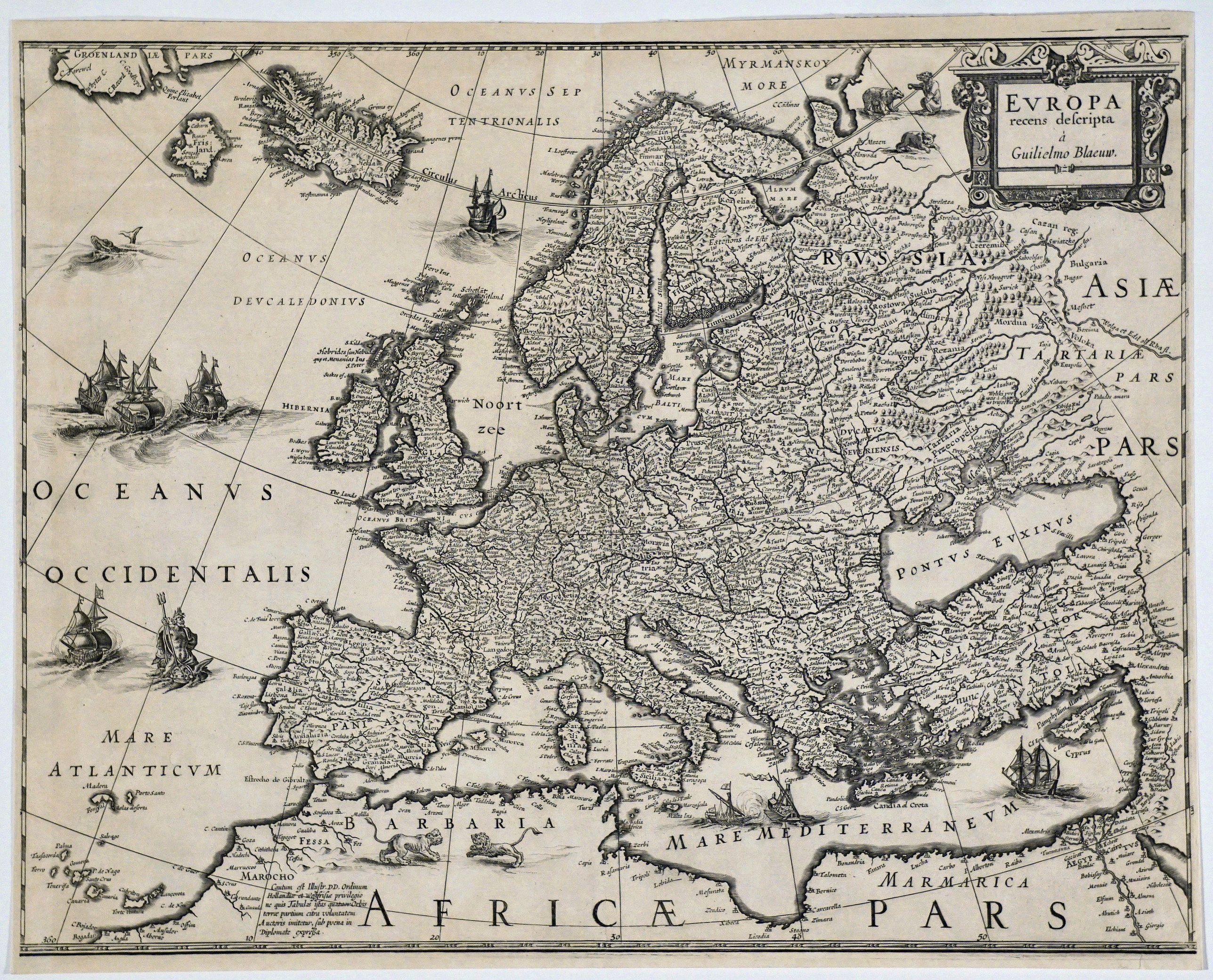 BLAEU, G. - Europa recens descripta a Guilielmo Blaeuw.