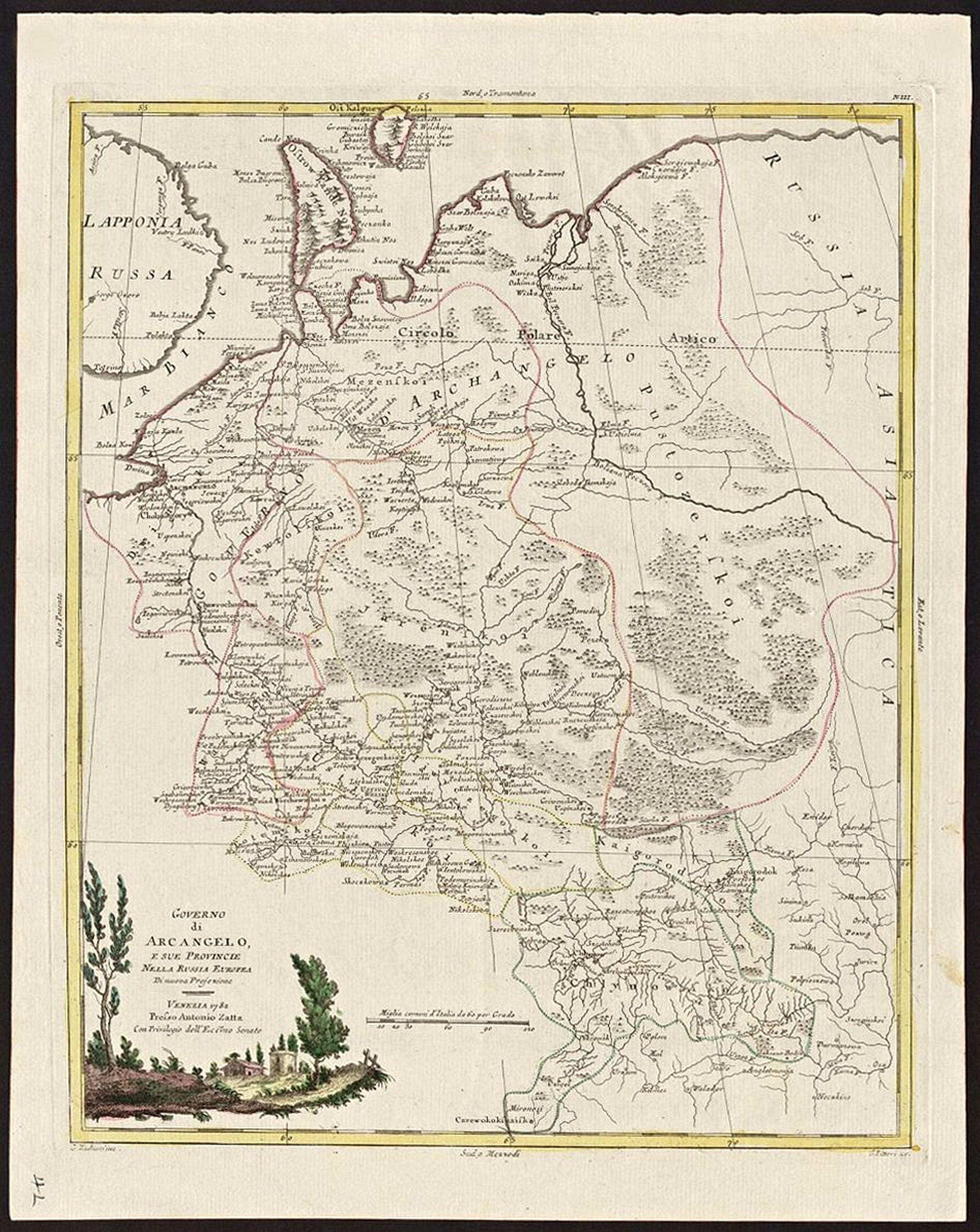 ZATTA, Antonio - Governo di Arcangelo, e sue Provincie Nella Russia Europea.