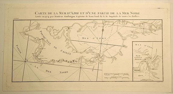 TARDIEU, P. - Carte de la Mer D'Azof et D'Une Partie de la Mer Noire.