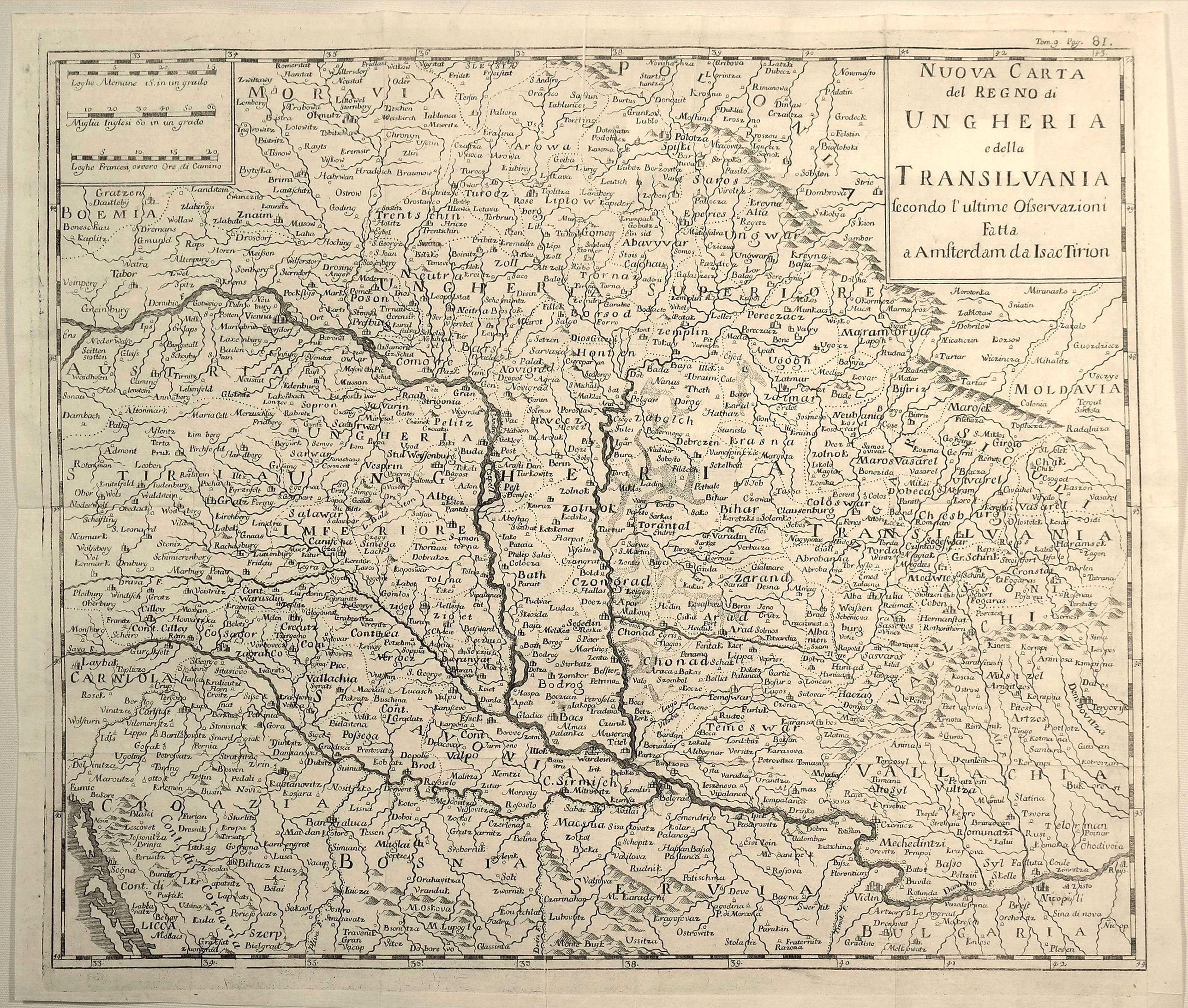 ALBRIZZI, G. - Nuovo Carta del Regno di Ungheria e Della Transilvania…
